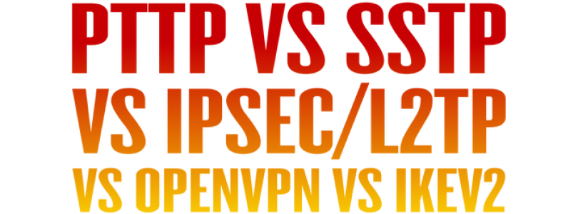 What is the difference between PPTP, L2TP/IPsec, SSTP, IKEv2, and OpenVPN?