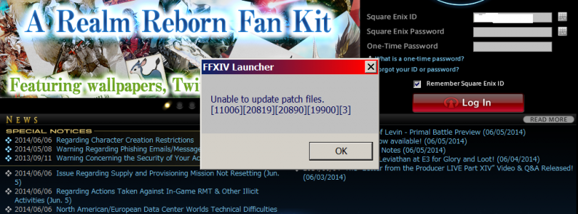How to Fix Final Fantasy XIV Unable to Download Patch Files