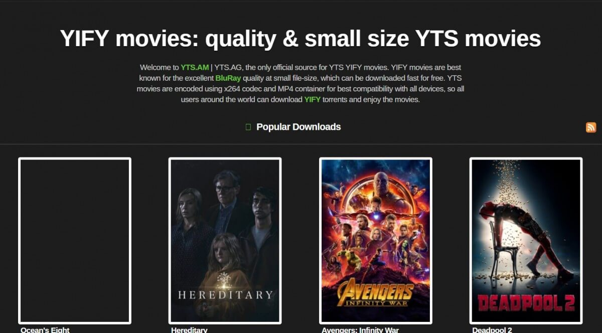 avengers infinity war torrent yify